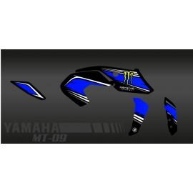 Kit dekor 100% - Def-Monster-blau - IDgrafix - Yamaha MT-09 (nach 2017) -idgrafix