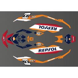Kit de decoración de Honda GP series para el Seadoo Chispa -idgrafix