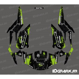 Kit de decoración de Spotof Edición (Verde)- IDgrafix - Polaris RZR 1000 Turbo