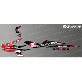Kit decoration DC Usa Red for Seadoo RXT 215-255