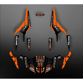 Kit decoration 100% Custom Monster Orange - IDgrafix - Polaris RZR 1000 S/XP-idgrafix