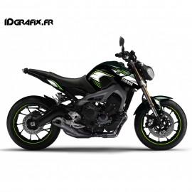 Kit de decoración de Racing green - IDgrafix - Yamaha MT-09 (hasta 2016) -idgrafix