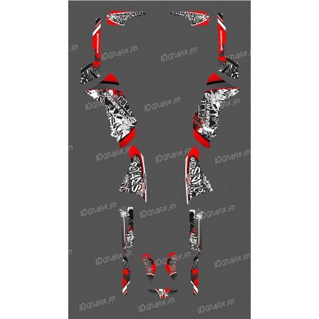 Kit de decoració Vermella Etiqueta de la Sèrie - IDgrafix - Polaris 500 Esportista -idgrafix