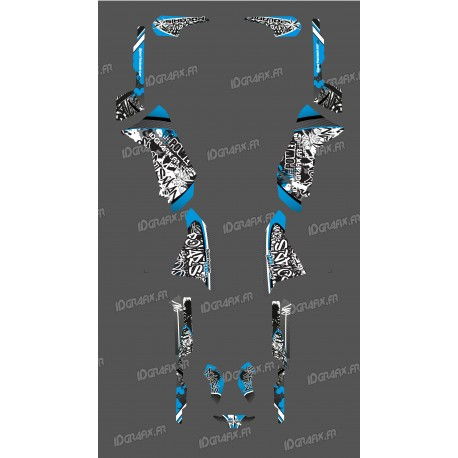 Kit décoration Bleu Tag Series - IDgrafix - Polaris 500 Sportsman -idgrafix