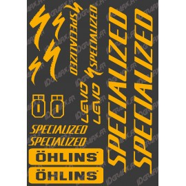 Board Sticker 21x30cm (Orange Fluo) - Specialized / Ohlins - IDgrafix