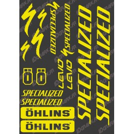 Planche Sticker 21x30cm (Jaune Fluo) - Specialized / Ohlins-idgrafix