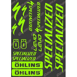 Board Sticker 21x30cm (Neon Green) - Specialized / Ohlins - IDgrafix