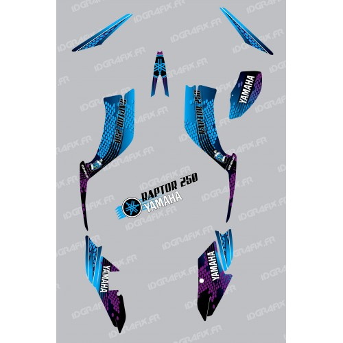 Kit de decoración de Serpiente Azul - IDgrafix - Yamaha Raptor 250