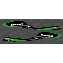 Kit de decoración de Réplica de Fábrica (Negro/Verde) para Kawasaki 800 SXR -idgrafix