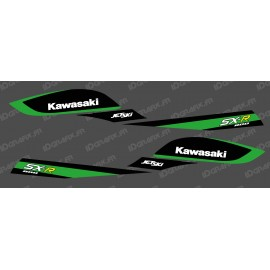 Kit decoration Replica Factory (Black/Green) for Kawasaki SXR 800 - IDgrafix