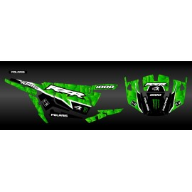 Kit de decoración de XP1K3 Edición (Verde)- IDgrafix - Polaris RZR 1000 Turbo -idgrafix