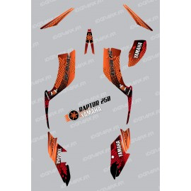 Kit décoration Snake Orange - IDgrafix - Yamaha 250 Raptor