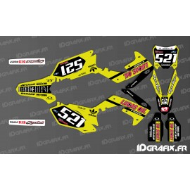 photo du kit décoration - Kit décoration Honda Lucas Oil Jaune Réplica - Honda CR/CRF 125-250-450