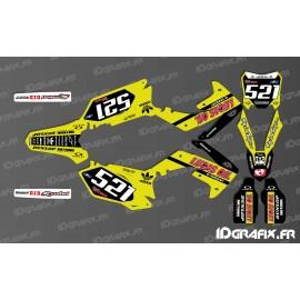 Kit decoration Honda Lucas Oil Yellow-Replica - Honda CR/CRF 125-250-450
