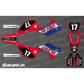 Kit de decoración de Honda Lucas Oil Red de Réplica - Honda CR/CRF 125-250-450 -idgrafix