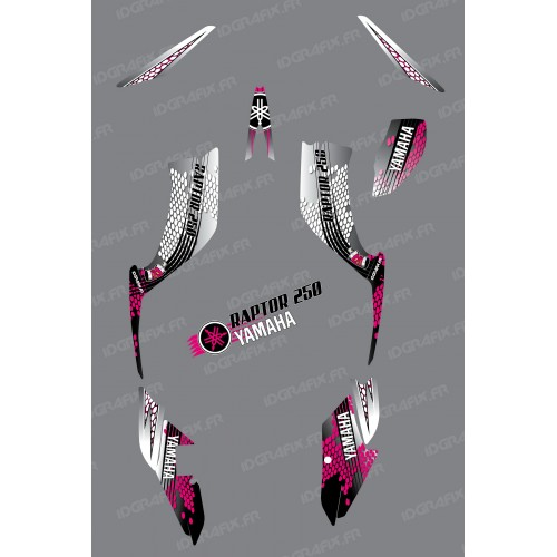 Kit decoration Pink Snake - IDgrafix - Yamaha 250 Raptor