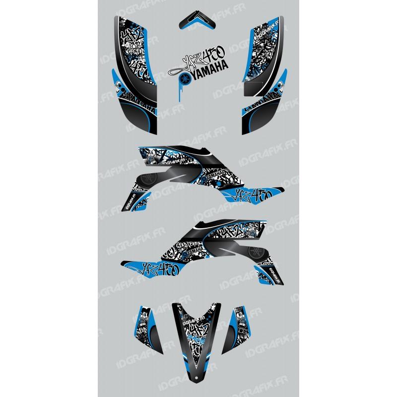 Kit décoration Tag Bleu - IDgrafix - Yamaha YFZ 450 - Idgrafix