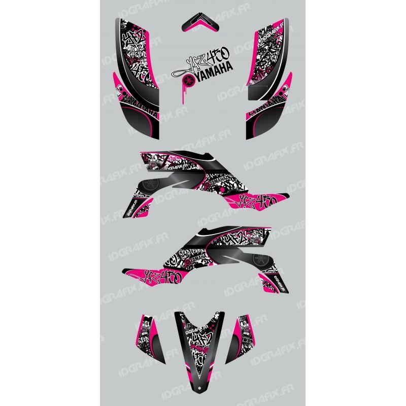 Kit de decoració Etiqueta de color Rosa - IDgrafix - Yamaha YFZ 450