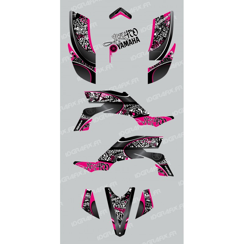 Kit de decoración de la Etiqueta de color de Rosa - IDgrafix - Yamaha YFZ 450 -idgrafix