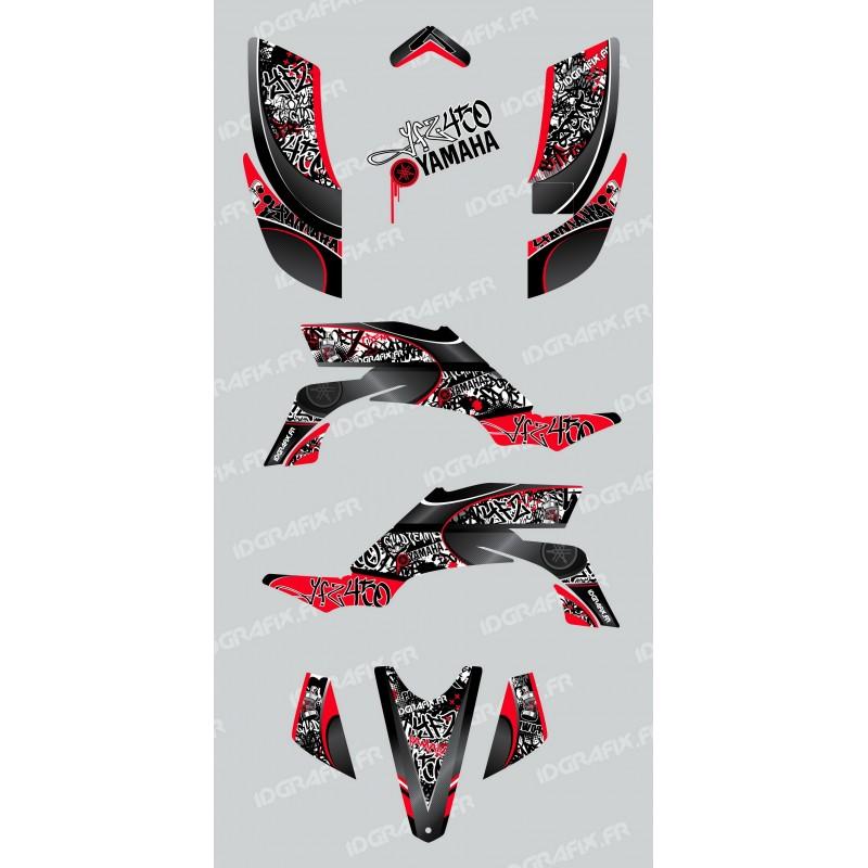 Kit de decoració Etiqueta Vermella - IDgrafix - Yamaha YFZ 450
