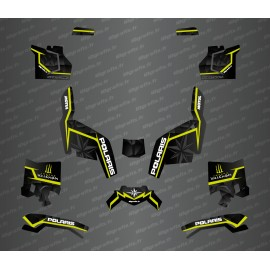 Kit deco side edition (Black/Fluo Yellow) - Idgrafix - Polaris Sportsman XP 1000 (after 2018)-idgrafix