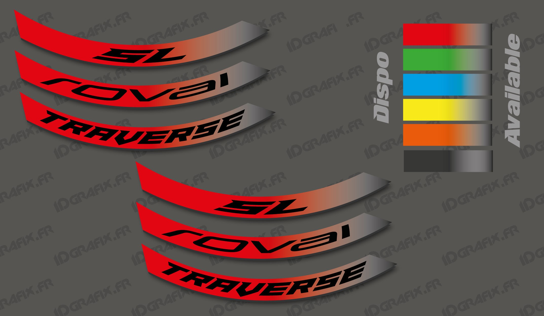 Polaris Trailblazer 250 >> Kit Stickers Jante Roval Traverse SL - Idgrafix