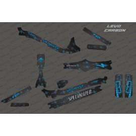 Kit deco di Carbonio, Edizione Completa (Blu) - Specializzata Levo Carbonio -idgrafix