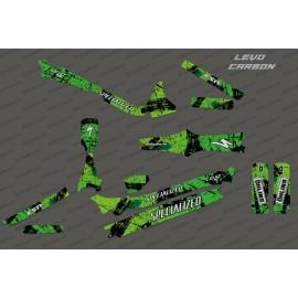 Kit deco Pennello Edizione Completa (Verde) - Specializzata Levo Carbonio -idgrafix