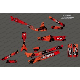 Kit déco Brush Edition Full (Rouge) - Specialized Levo Carbon