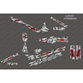 Kit deco Camo Edition Full (Red) - Specialized Levo Carbon - IDgrafix