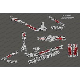 Kit deco Camo Edition Full (Rosso) - Specializzata Levo Carbonio -idgrafix