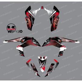 Kit de decoració Rèptil Vermell - IDgrafix - Kawasaki KFX 450R