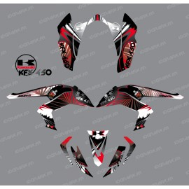 Kit decoration Reptile Red - IDgrafix - Kawasaki KFX 450R