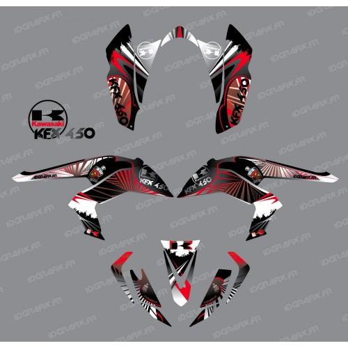 Kit de decoración de Reptil Rojo - IDgrafix - Kawasaki KFX 450R