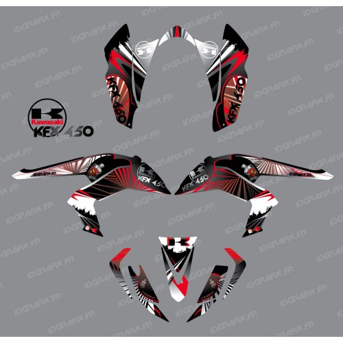 Kit decoration Reptile Red - IDgrafix - Kawasaki KFX 450R - IDgrafix