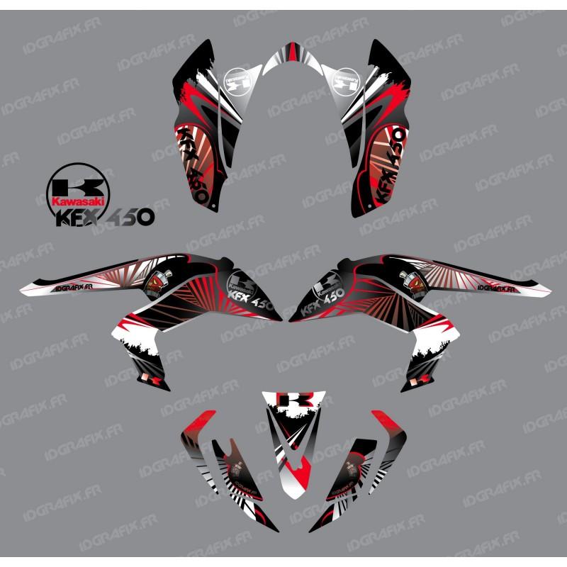 Kit de decoración de Reptil Rojo - IDgrafix - Kawasaki KFX 450R -idgrafix