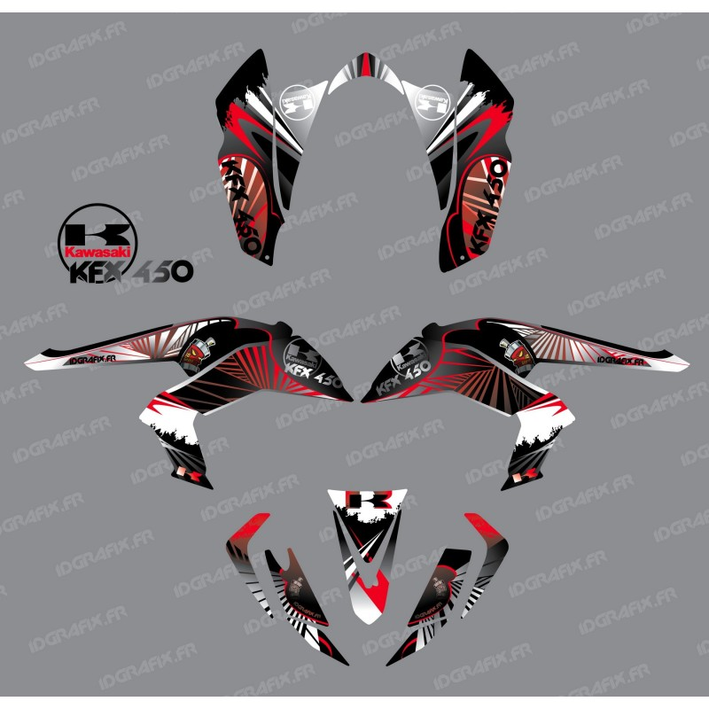 Kit decoration Reptile Red - IDgrafix - Kawasaki KFX 450R-idgrafix