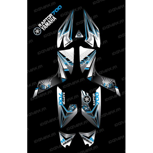 Kit décoration Flash Bleu - IDgrafix - Yamaha 700 Raptor-idgrafix
