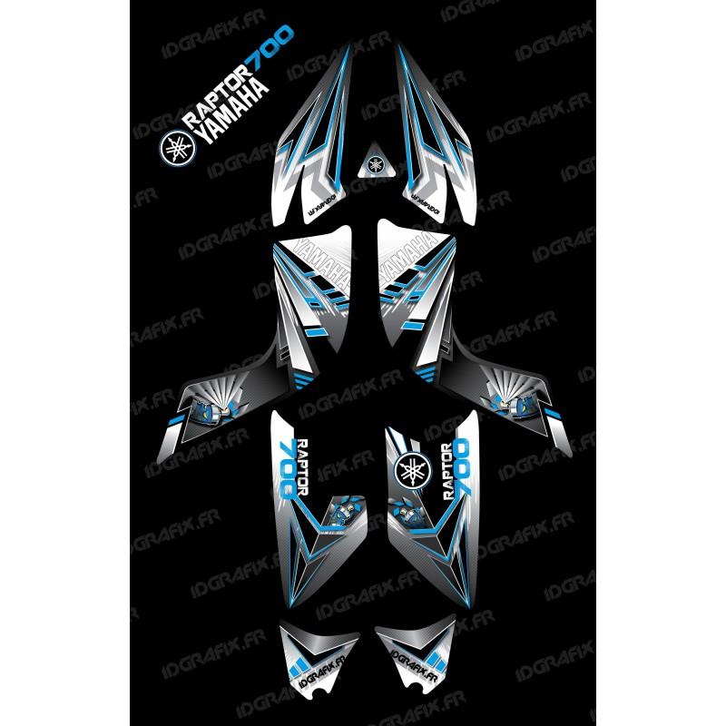 Kit dekor-Flash-Blau - IDgrafix - Yamaha 700 Raptor