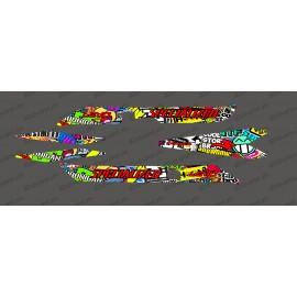 Kit deco Sticker Bomb Edizione di Luce Specializzata Levo Carbonio -idgrafix
