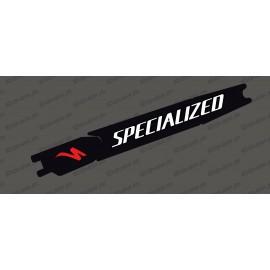 Etiqueta engomada de la protección de la Batería - Black edition (Blanco/rojo) - Specialized Turbo Levo/Kenevo -idgrafix