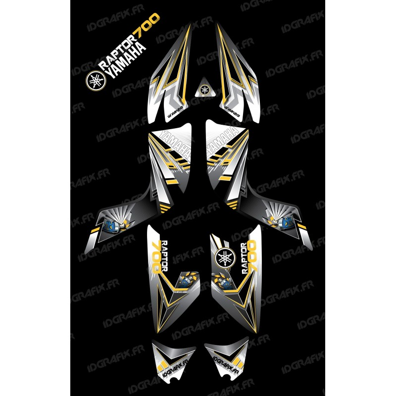 Kit decoration Flash Yellow - IDgrafix - Yamaha 700 Raptor-idgrafix