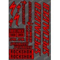 Board Sticker 21x30cm (Red/Black) - Specialized / Lyrik