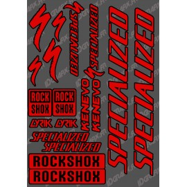 Planche Sticker 21x30cm (Rouge/Noir) - Specialized / Lyrik