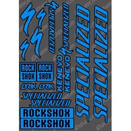 Board Sticker 21x30cm (Blue/Black) - Specialized / Lyrik-idgrafix