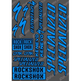 Planche Sticker 21x30cm (Bleu/Noir) - Specialized / Lyrik