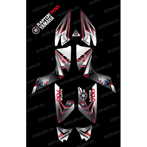 Kit de decoración Rojo Flash - IDgrafix - Yamaha Raptor 700