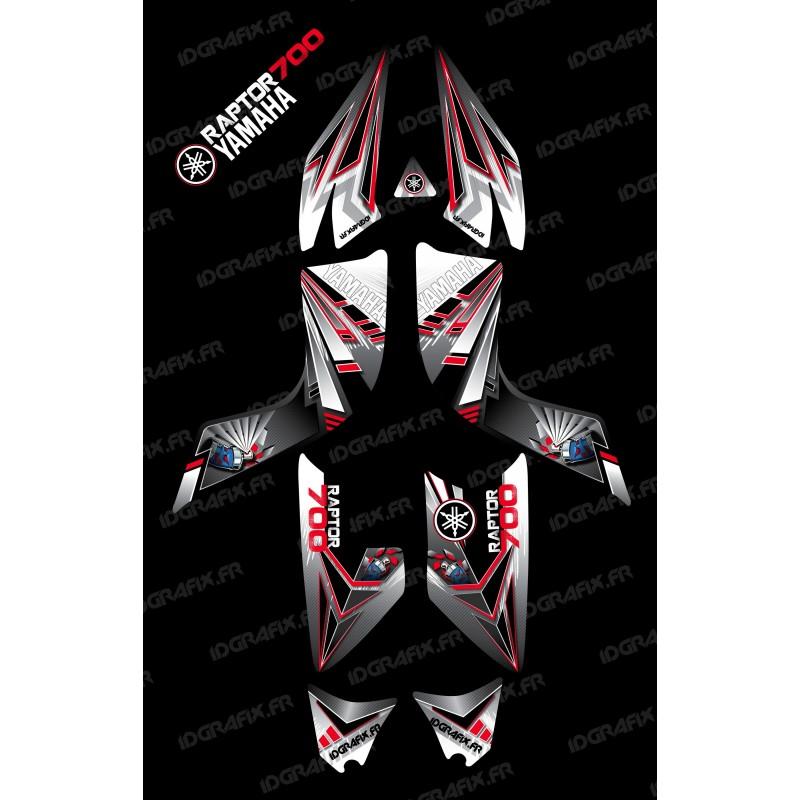 Kit décoration Flash Rouge - IDgrafix - Yamaha 700 Raptor - Idgrafix