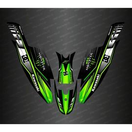 Kit de decoración 100% Personalizado DC (Verde) para Kawasaki 1500 SXR -idgrafix