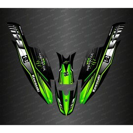 Kit decoration 100% Custom DC (Green) for Kawasaki SXR 1500 - IDgrafix